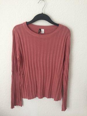 H&M Strickshirt mit Trompetenärmeln Pink