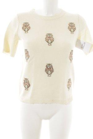 H&M Strickshirt wollweiß Casual-Look