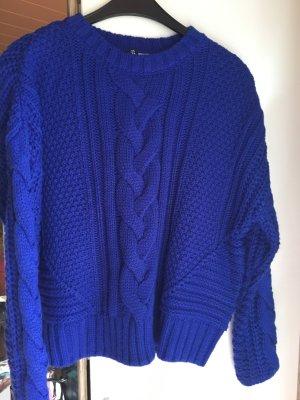 H&M Stricksweatshirt blau