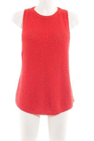 H&M Top lavorato a maglia rosso stile casual