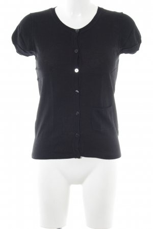 H&M Top de punto negro look casual