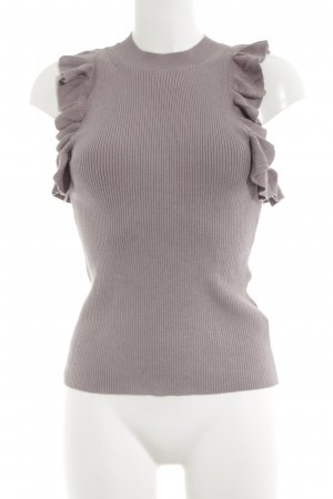 H&M Top lavorato a maglia marrone stile casual