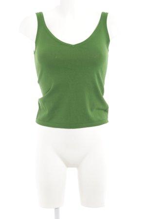 H&M Top lavorato a maglia verde stile casual