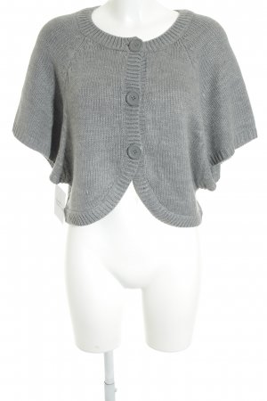 H&M Strickweste grau Casual-Look