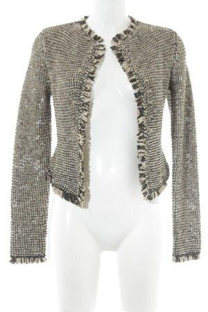H&M Gilet tricoté marron clair-noir style décontracté