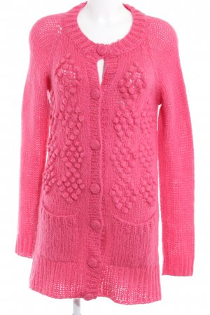 H&M Knitted Vest raspberry-red street-fashion look