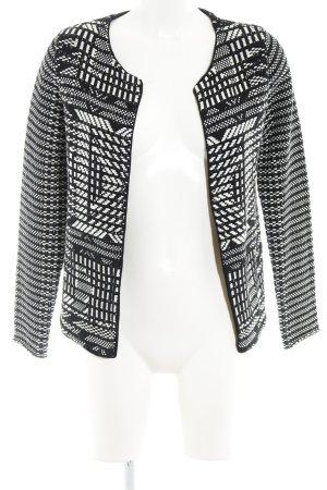 H&M Gebreid vest zwart etnische print casual uitstraling