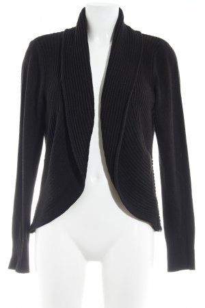 H&M Knitted Vest black weave pattern casual look