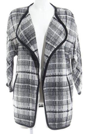 H&M Strickweste schwarz-weiß Karomuster Casual-Look