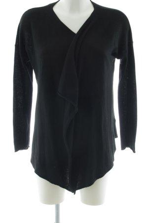 H&M Chaqueta de punto cruzada negro look casual