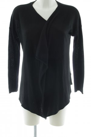 H&M Knitted Wrap Cardigan black casual look