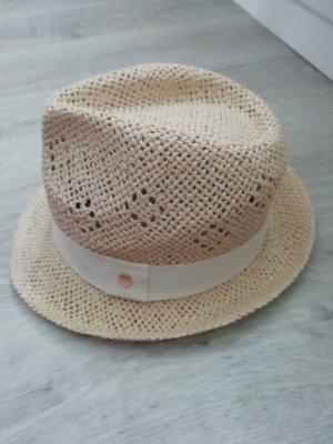 H&M Chapeau de paille blanc-beige clair