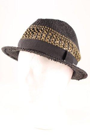 H&M Sombrero de paja negro-ocre estampado a cuadros Estilo playero
