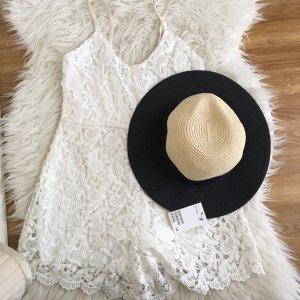 H&M Strohhut Sommerhut beige schwarz Gr. M 56 Neu m Etikett Blogger Ausverkauft