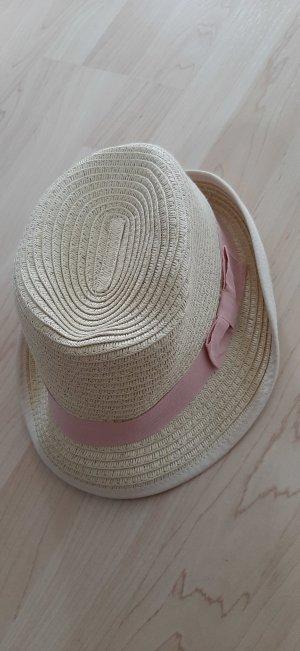 H&M Hoed van stro zandig bruin-roze