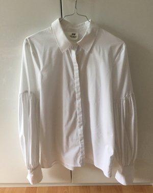 H&M Studio Blouse à manches longues blanc
