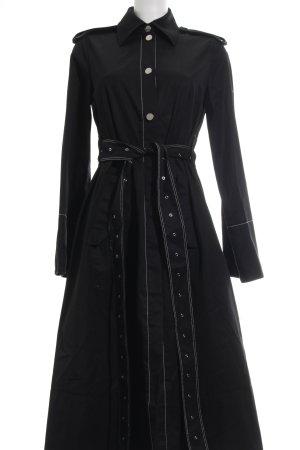 H&M Studio bodenlanger Mantel schwarz Elegant