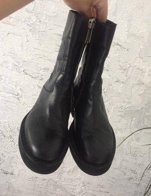 H&M Studio Echtleder Boots mit Plateauabsatz 37