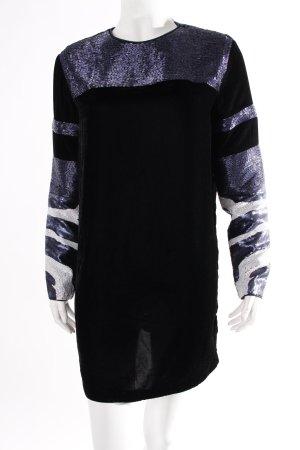 H&M Studio Kleid schwarz Samtoptik