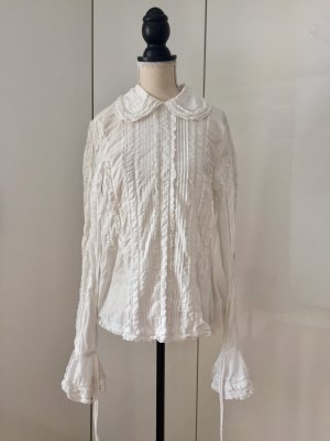 H&M Studio Blouse en dentelle blanc