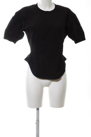 H&M Studio Kurzarmpullover schwarz Elegant