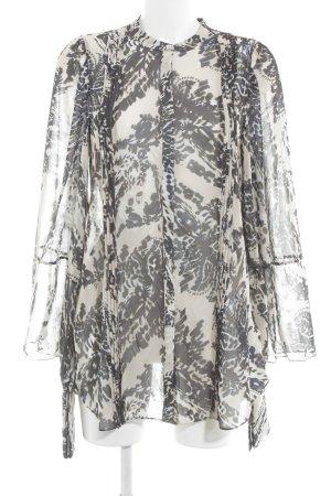 H&M Studio Langarm-Bluse florales Muster klassischer Stil