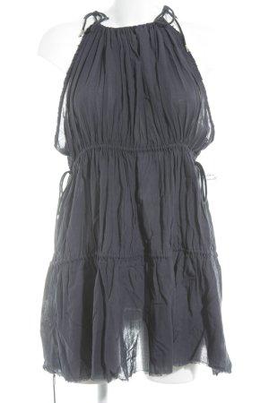 H&M Studio Minikleid dunkelblau Boho-Look