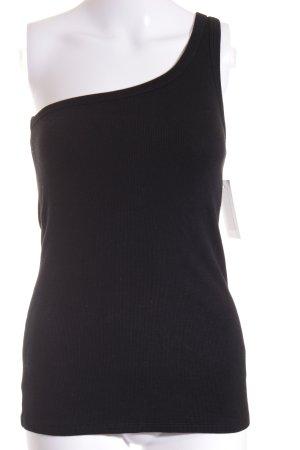 H&M Studio Eénschoudertop zwart straat-mode uitstraling