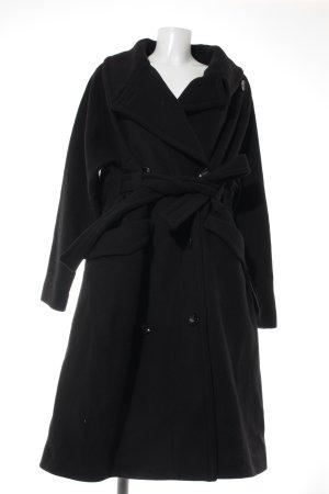 H&M Studio Oversized Mantel schwarz Boyfriend-Look