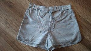 H&M Studio Shorts Bermuda Hotpants kurze Hose Streifen Pyjama Style Seide 36