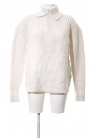 H&M Studio Wollpullover wollweiß Casual-Look