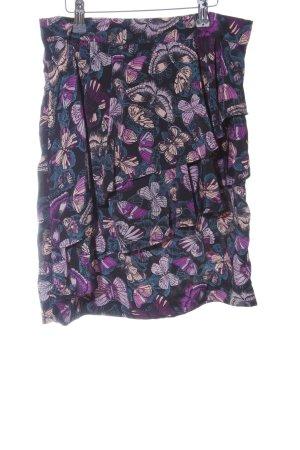 H&M Gelaagde rok volledige print casual uitstraling