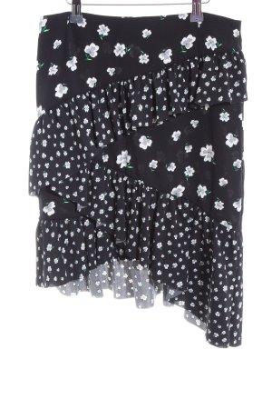 H&M Gelaagde rok bloemenprint casual uitstraling