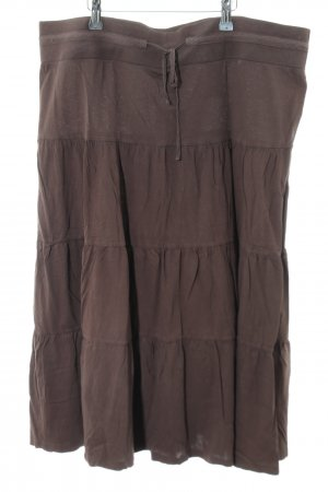 H&M Broomstick Skirt brown casual look
