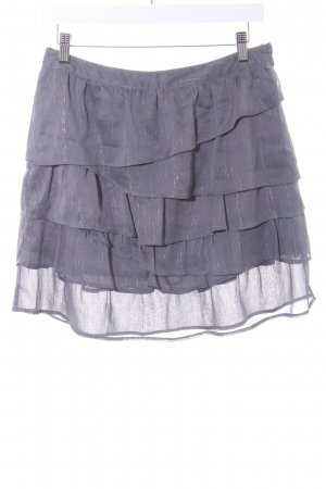 H&M Gelaagde rok grijs-zilver glitter-achtig