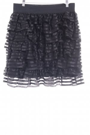H&M Broomstick Skirt black layered look
