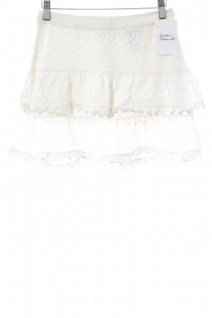 H&M Broomstick Skirt natural white romantic style