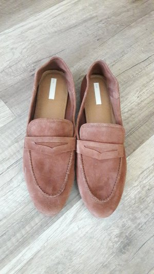 H&M Suede Echt Wildleder Mokassins Loafer Slipper Slipons 40