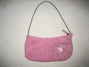 H&M suesse kleine tasche rosa tweed boucle neu