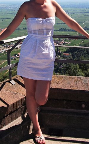 H&M Robe courte blanc