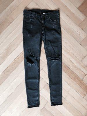 H&M Super Skinny Super Low Jeans schwarz 27 x 30