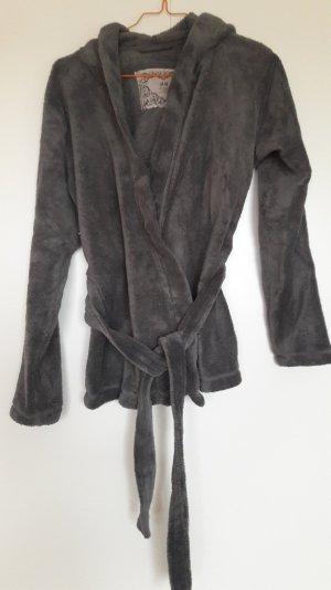 H&M superflauschige Homewear Jacke Teddyfleece mit Kapuze grau Gr. XS