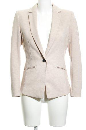 H&M Blazer de tela de sudadera rosa empolvado moteado look casual