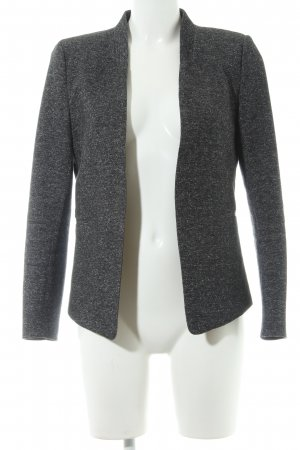 H&M Sweat Blazer anthracite-light grey flecked casual look