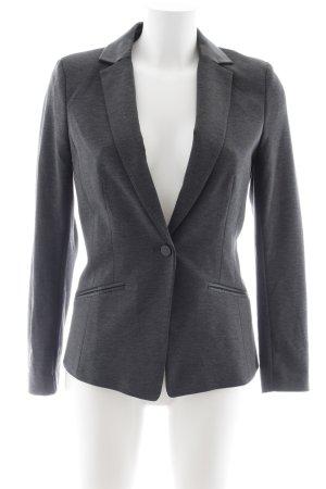 H&M Blazer de tela de sudadera gris-negro moteado elegante