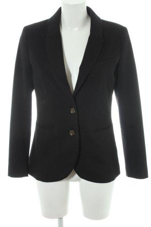 H&M Blazer de tela de sudadera negro estilo «business»