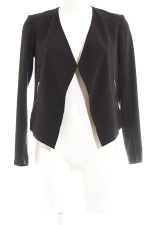 H&M Blazer de tela de sudadera negro look casual