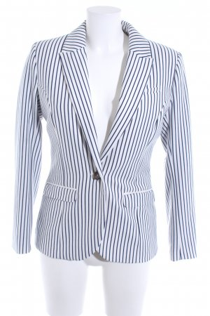 H&M Sweatblazer wollweiß-dunkelblau Streifenmuster Business-Look