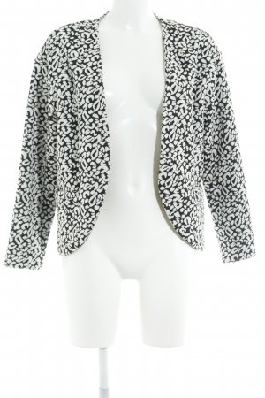 H&M Sweat Blazer natural white-black leopard pattern simple style