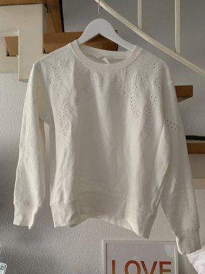 H&M Long Sweater white